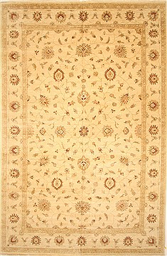 Indian Ziegler Beige Rectangle 12x18 ft Wool Carpet 30591