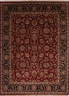 "Jaipur Red Hand Knotted 8'11"" X 12'0""  Area Rug 301-30600"
