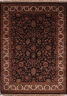 "Jaipur Black Hand Knotted 9'1"" X 12'5""  Area Rug 301-30609"