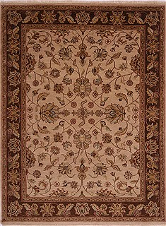 "Jaipur Beige Hand Knotted 8'5"" X 11'5""  Area Rug 301-30614"