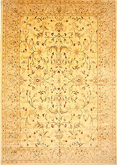 Pakistani Pishavar Yellow Rectangle 12x18 ft Wool Carpet 30622