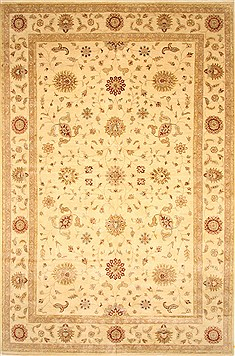 Indian Ziegler Beige Rectangle 12x18 ft Wool Carpet 30629