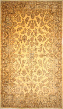 "Kerman Beige Hand Knotted 13'9"" X 23'10""  Area Rug 250-30656"