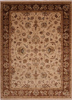 "Jaipur Beige Hand Knotted 9'0"" X 12'2""  Area Rug 301-30669"