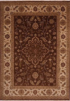 "Jaipur Brown Hand Knotted 8'10"" X 12'4""  Area Rug 301-30670"