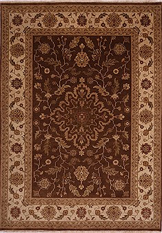 "Jaipur Brown Hand Knotted 8'10"" X 12'4""  Area Rug 301-30672"