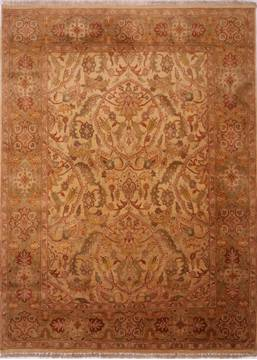 "Jaipur Beige Hand Knotted 8'1"" X 10'11""  Area Rug 301-30674"