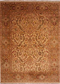 "Jaipur Beige Hand Knotted 8'1"" X 10'11""  Area Rug 301-30675"