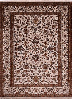 "Jaipur White Hand Knotted 9'2"" X 12'1""  Area Rug 301-30676"