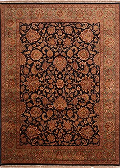 "Jaipur Black Hand Knotted 8'11"" X 12'0""  Area Rug 301-30690"