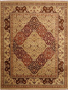 "Jaipur Yellow Hand Knotted 9'1"" X 11'5""  Area Rug 301-30697"