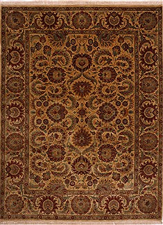 "Jaipur Yellow Hand Knotted 9'2"" X 11'11""  Area Rug 301-30702"
