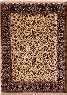 "Jaipur Yellow Hand Knotted 9'0"" X 12'3""  Area Rug 301-30704"