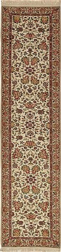 "Kashan Beige Runner Hand Knotted 2'3"" X 10'0""  Area Rug 276-30721"