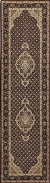 Chinese Mahi Black Runner 10 to 12 ft Wool Carpet 30726