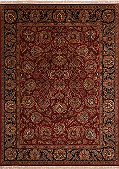 "Jaipur Red Hand Knotted 9'1"" X 12'2""  Area Rug 301-30740"