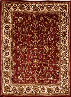 "Jaipur Red Hand Knotted 9'0"" X 11'11""  Area Rug 301-30750"