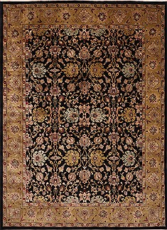 "Jaipur Black Hand Knotted 8'10"" X 12'0""  Area Rug 301-30753"