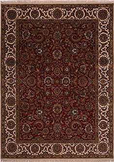 "Jaipur Red Hand Knotted 9'0"" X 12'2""  Area Rug 301-30756"