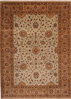 Indian Jaipur Grey Rectangle 9x12 ft Wool Carpet 30773