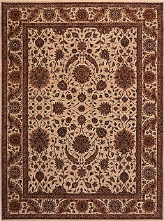 "Sarouk Beige Hand Knotted 9'1"" X 12'1""  Area Rug 301-30780"