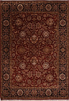 "Jaipur Red Hand Knotted 8'11"" X 12'7""  Area Rug 301-30809"