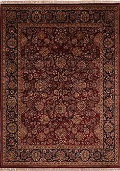 "Jaipur Red Hand Knotted 9'0"" X 12'0""  Area Rug 301-30815"