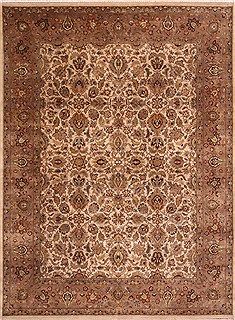 "Jaipur White Hand Knotted 9'0"" X 12'0""  Area Rug 301-30817"