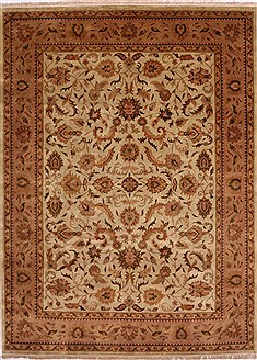 "Kashan Beige Hand Knotted 8'6"" X 11'5""  Area Rug 301-30818"