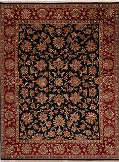 "Jaipur Black Hand Knotted 8'11"" X 11'8""  Area Rug 301-30820"
