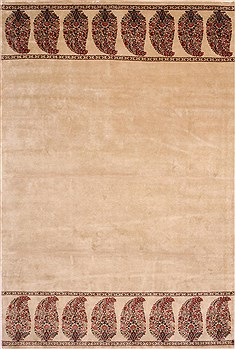 "Botemir Beige Hand Knotted 8'1"" X 11'11""  Area Rug 301-30863"