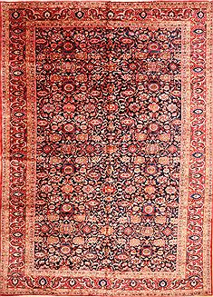 "Hamedan Red Hand Knotted 11'10"" X 16'7""  Area Rug 256-30889"