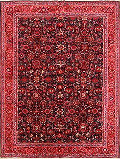 "Hamedan Red Hand Knotted 10'8"" X 13'10""  Area Rug 256-30896"