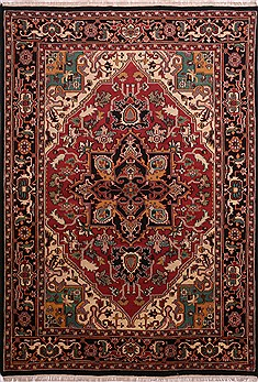 "Heriz Red Hand Knotted 10'1"" X 14'4""  Area Rug 301-30899"