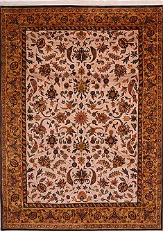 "Sarouk Beige Hand Knotted 9'11"" X 13'8""  Area Rug 301-30921"