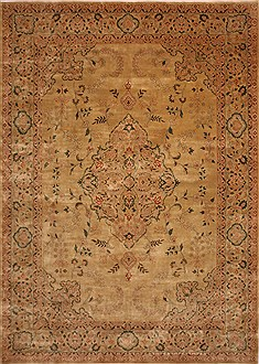 "Jaipur Yellow Hand Knotted 10'0"" X 13'10""  Area Rug 301-30923"