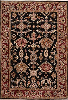 "Jaipur Black Hand Knotted 9'6"" X 13'6""  Area Rug 301-30927"