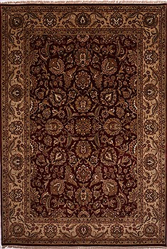 "Jaipur Red Hand Knotted 10'0"" X 14'5""  Area Rug 301-30931"