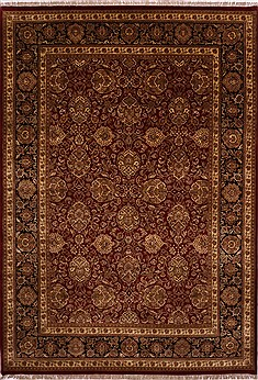 "Jaipur Red Hand Knotted 10'0"" X 14'3""  Area Rug 301-30943"