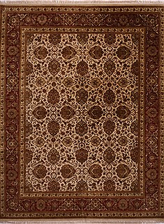 "Jaipur White Hand Knotted 12'1"" X 15'4""  Area Rug 301-30948"