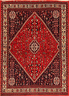 Persian Abadeh Red Rectangle 3x5 ft Wool Carpet 30952