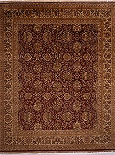 "Jaipur Red Hand Knotted 12'1"" X 14'9""  Area Rug 301-30957"