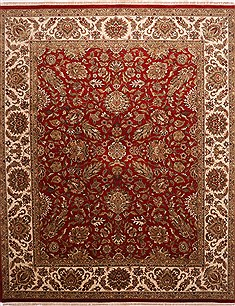"Jaipur Red Hand Knotted 12'1"" X 14'9""  Area Rug 301-30960"