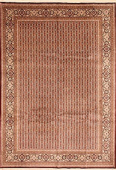 Chinese Herati Red Rectangle 10x14 ft Wool Carpet 30963