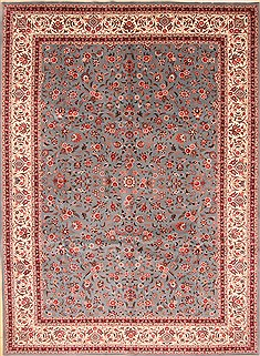 Chinese Tabriz Green Rectangle 10x14 ft Wool Carpet 30964