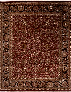 "Jaipur Red Hand Knotted 12'0"" X 14'11""  Area Rug 301-30967"