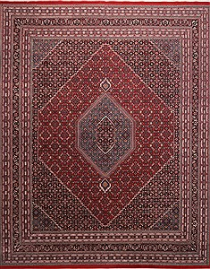 "Bidjar Red Hand Knotted 12'1"" X 14'10""  Area Rug 301-30970"