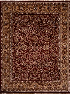 "Jaipur Red Hand Knotted 11'10"" X 15'2""  Area Rug 301-30979"