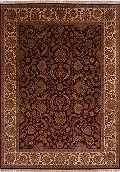 "Jaipur Red Hand Knotted 8'10"" X 12'2""  Area Rug 301-30982"