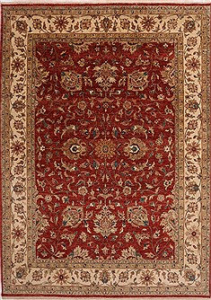 "Jaipur Red Hand Knotted 8'1"" X 11'2""  Area Rug 301-30983"